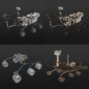 Mars rovers 3D Model