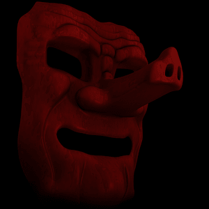 Japanische Dämonen-Tengu-Maske 3D-Modell