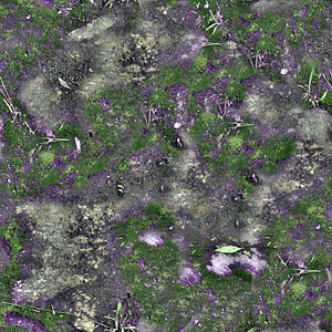 Mossy Stone Texture 3D Model