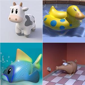 Cartoon Animals 3D Model