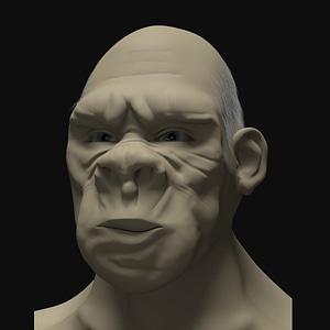 Ape Man 3D Model