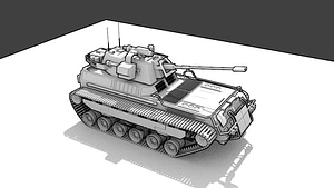 Armored Cavalry 3D Model