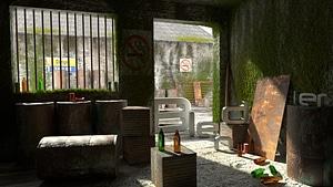 Barn Scene 3D Model