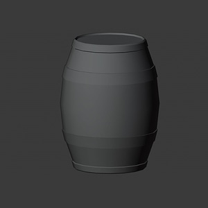 Бочка 3D модель