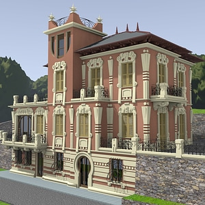 Beautiful House Liberty 3D Model