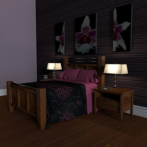 Bedroom Interiror 3D Model