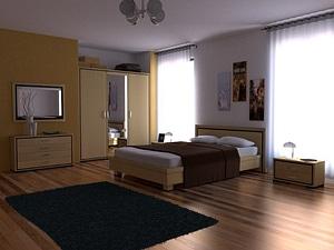 Modello 3D di Camera da letto