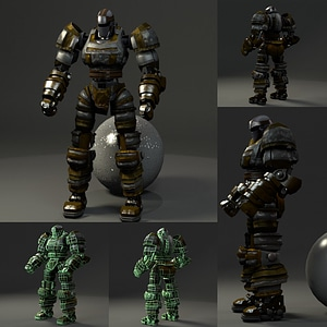 Boxer Bot 3D Model
