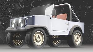 Jeep CJ 3D Model