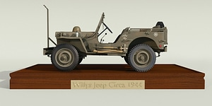 Willys Jeep Circa 1944 3D Model