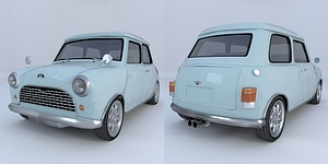 Austin Mini Cooper 1962 3D Model