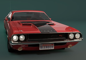 Dodge Challenger 1970 R T 3D Model
