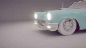 Ford 57 Thunderbird 3D Model