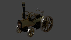 Steam Car 3D Model
