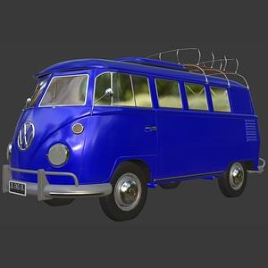 Volkswagen Combi Van T12 3D Model