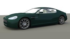 Aston Martin Rapide 3D Model