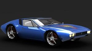 De Tomaso Mangusta 3D Model