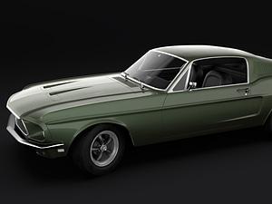 1968 Mustang GT Fastback 3D Model