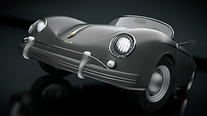 Porsche Speedster 356a 3D Model