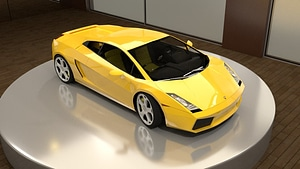 Gallardo 2006 Yellow 3D Model