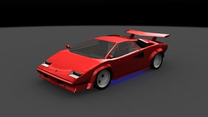 Lamborghini Countach 3D Model