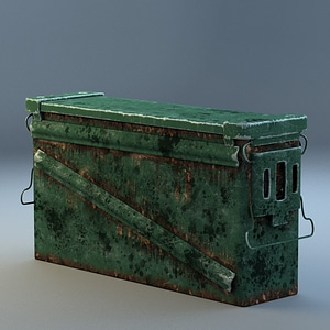 Worn-Out Rusted Ammocrate 3D Model