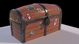 Travel Chest 3D Model
