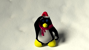 Christmas Penguin 3D Model