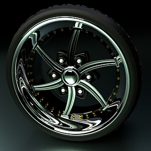 Chrome Tire 3D Model