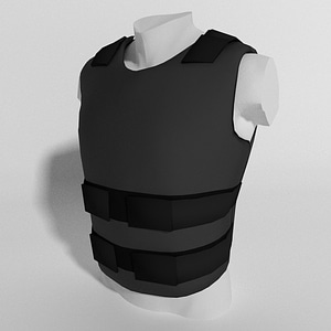 Kevlar Bulletproof Vest Basic 3D Model