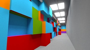 Colorful Corridor 3D Model