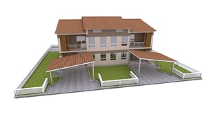 Cottages 3D Model