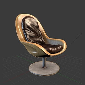 Creus Armchair 3D Model