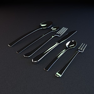 Cutlery Set 3D Model
