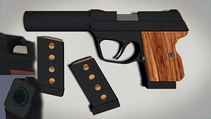 Czech Spy Pistol 3D Model