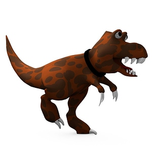 Modello 3D di Cartoon Dinosaur