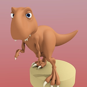 Cartoon T-Rex 3D модель