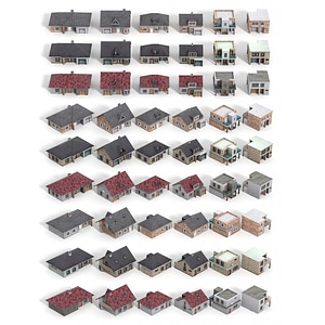 Family House Collection 3D Model
