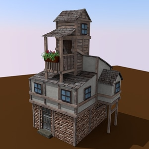Fantasy Medieval House 3D-malli