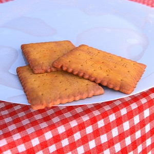 Butter Biscuits 3D Model