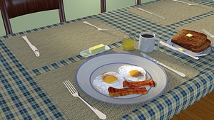 Early Morning Breakfast 3D Model