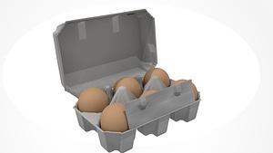 Eggs Box model 3d
