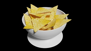 Tortilla Chips 3D Model