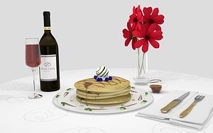 Pancake Scene 3D Model