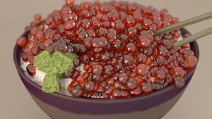 Salmon caviar 3D Model