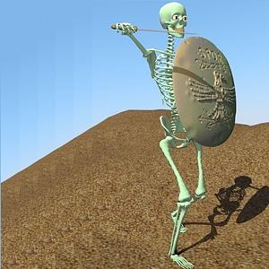 Fully Rigged Skeleton 3D Model
