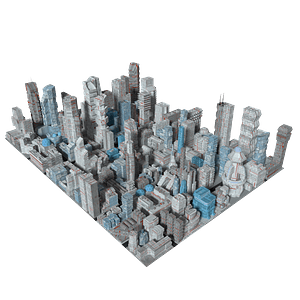 Generic Skyscrapers 3D Model