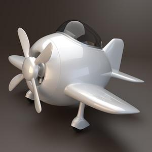 Egg Plane 3D Model