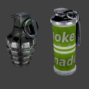 Grenade and Smoke Grenade model 3d