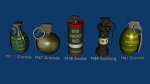 Grenade Pack modèle 3D